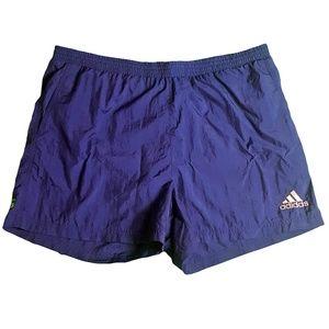 Adidas Mens Nylon Swim Trunks Size Large Blue